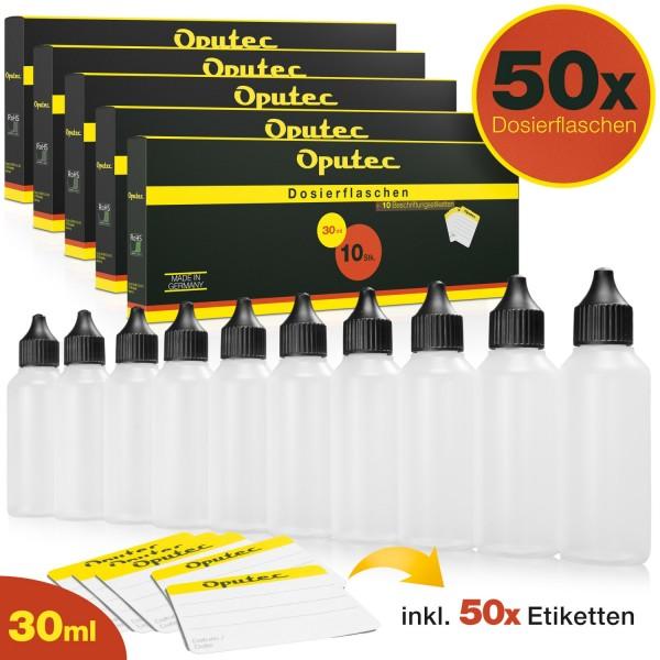 50 x 30ml Dosierflaschen / Liquid-Flaschen mit Tröpflerspitze